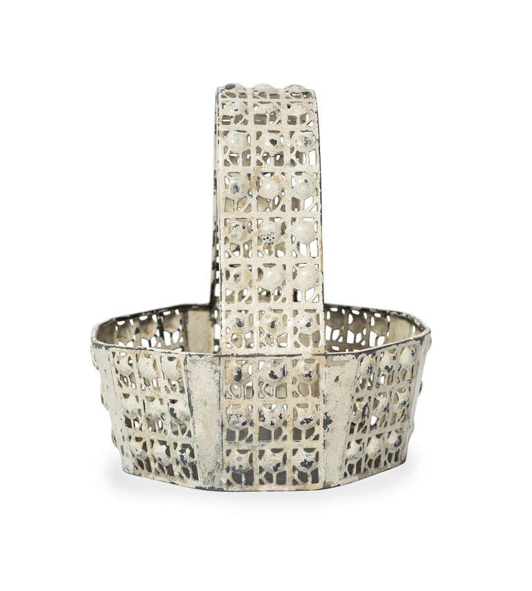 The fruit baskets designed by Josef Hoffmann range among the most popular pieces made by the Wiener Werkstatte. The highly reduced shapes along with the perforated