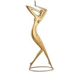 "Karl Schmidt ""Dancer"" Sculpture Hammered Brass Former Hagenauer, 2014"