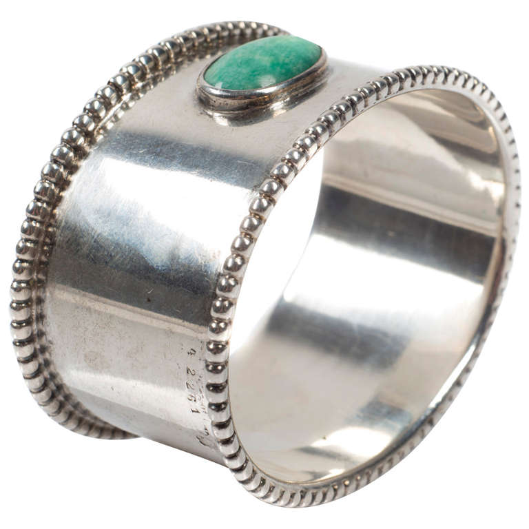 Josef Hoffmann Napkin Ring Executed by Sturm Vienna, circa 1915 For Sale