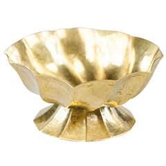 Documented Gold Gilded Brass Ashtray Josef Hoffmann Wiener Werkstätte circa 1923