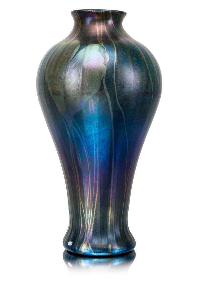 Monumental tiffany favrile decorated art glass vase ca 1900 for the glassworks louis comfort tiffany was the leading producer of art nouveau glasses in america reviewsmspy
