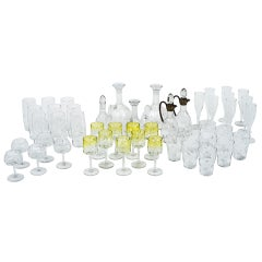 48-Piece Set of Glass Tableware Koloman Moser Chamapgne Water Wine Beer Sherry