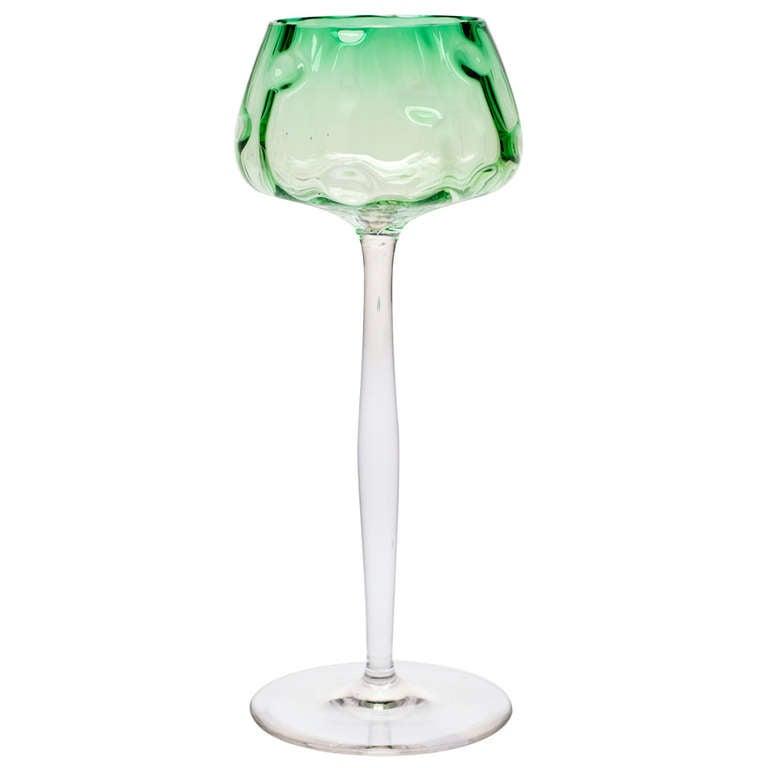 Wineglass Koloman Moser Bakalowits Vienna Meyr's Neffe, circa 1900 For Sale