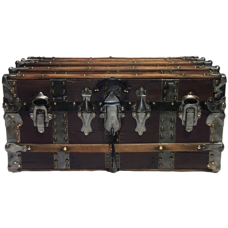 Antique Steamer Trunk Turn Of The Century At 1stdibs