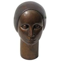Manuel Mateo Bronze Woman Sculpture