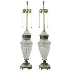 Large Pair of Murano Lamps by Marbro