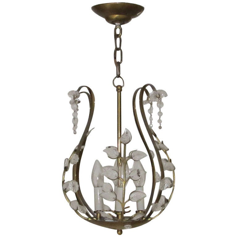 Attributed To Emil Stejnar Small Chandelier At 1stdibs