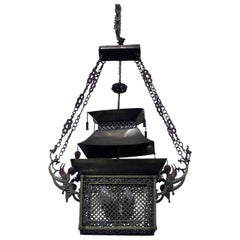Pagoda Style Asian Bronze Lantern