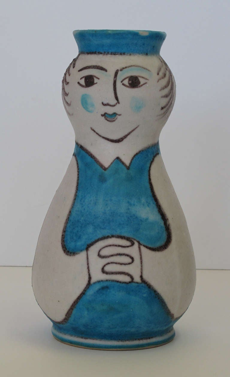 Guido Gambone CAS Figural Pottery Vase 2
