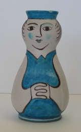 Guido Gambone CAS Figural Pottery Vase image 2