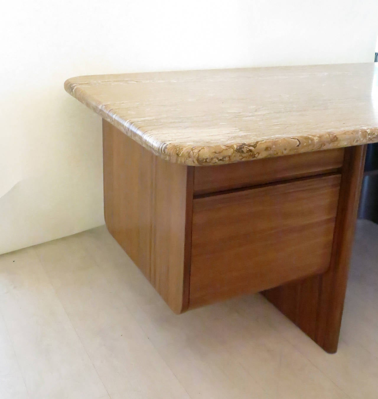 Marble-Top Executive Desk by Vladimir Kagan For Sale at ...