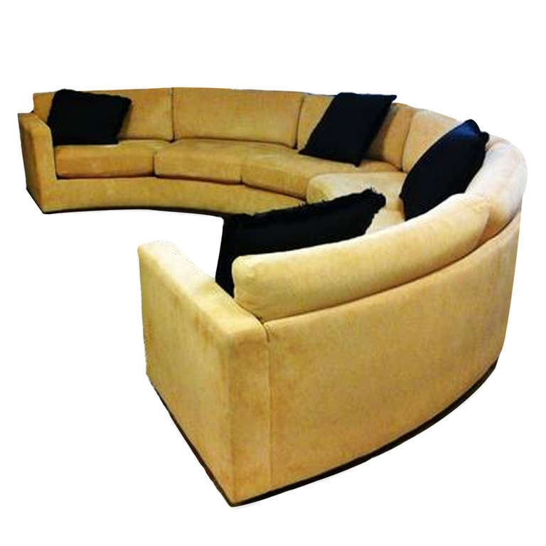 Milo Baughman Circular Sectional Sofa At 1stdibs