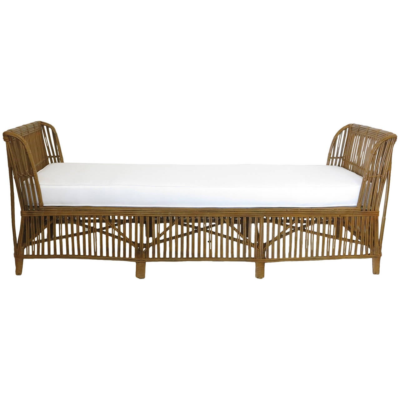 Beautiful Rare 1920s Reed Daybed 1