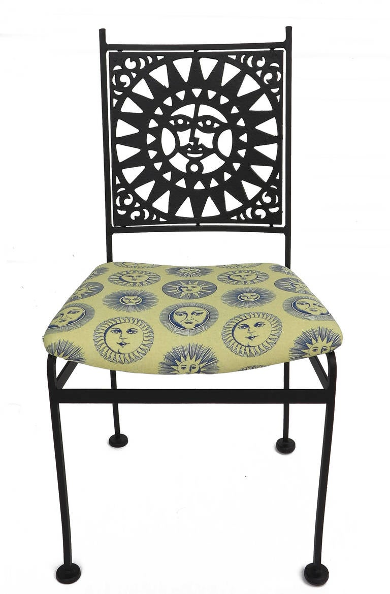 sunface wrought iron patio set for sale at 1stdibs