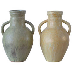 Addison Mizner two Art Pottery Handled Jugs