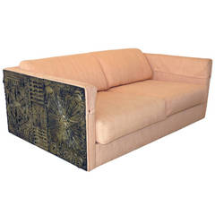 Fine and Rare Settee in the Style of Paul Evans