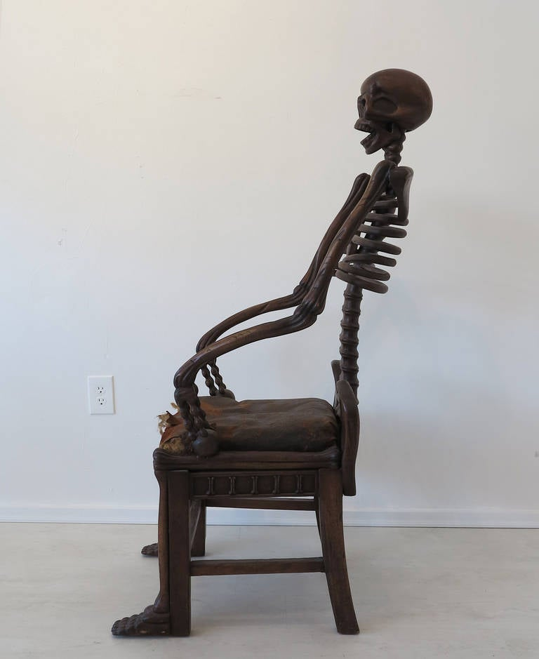 Arts and Crafts 19th Century Rare Skeleton Chair For Sale