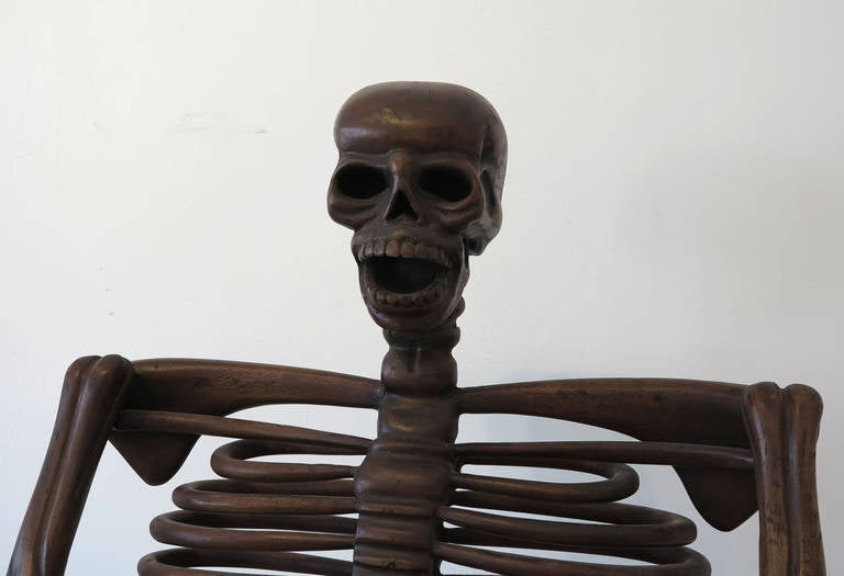 19th Century Rare Skeleton Chair In Good Condition For Sale In West Palm Beach, FL