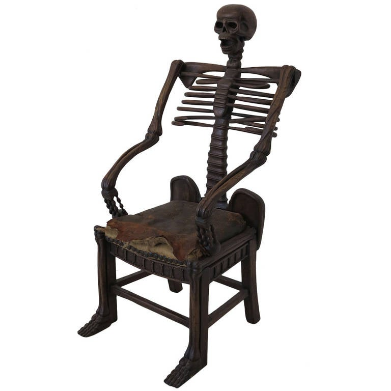 19th Century Rare Skeleton Chair For Sale