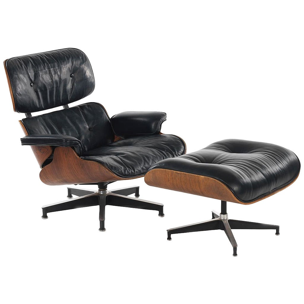 Eames 670/671 Lounge Chair and Ottoman by Herman Miller at ...