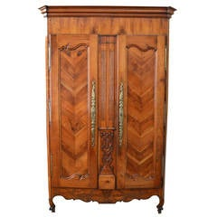 French Antique Armoire Cabinet, 18th Century