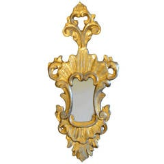 18th c. Gilded  Antique Italian Mirror