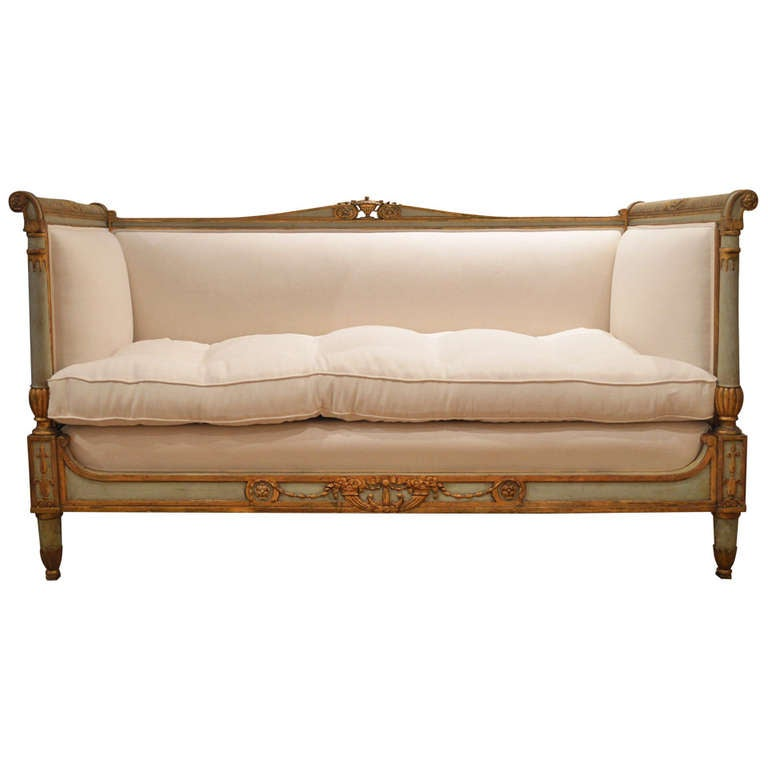 18th century antique style french directoire sofa at 1stdibs Antique loveseat styles