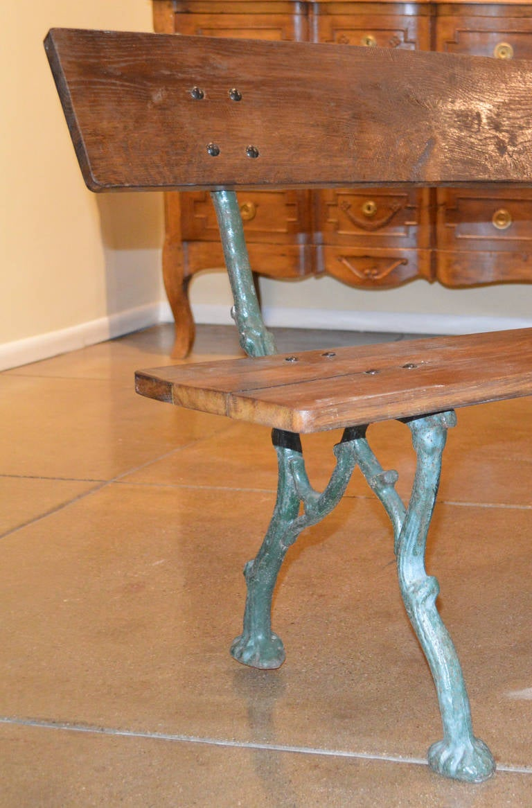 Cast Of Benched : Th century cast iron bench at stdibs