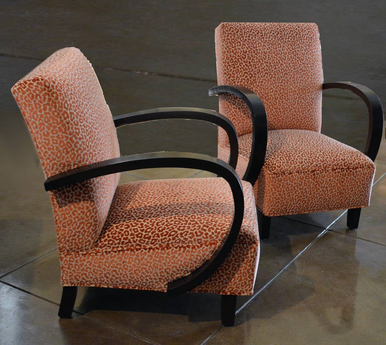 Belgian Pair of Period Art Deco Chairs For Sale