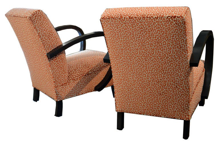 Pair of Period Art Deco Chairs In Excellent Condition For Sale In Los Angeles, CA
