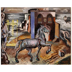 Peppino Mangravite 'Horses by an Old Tribunal'