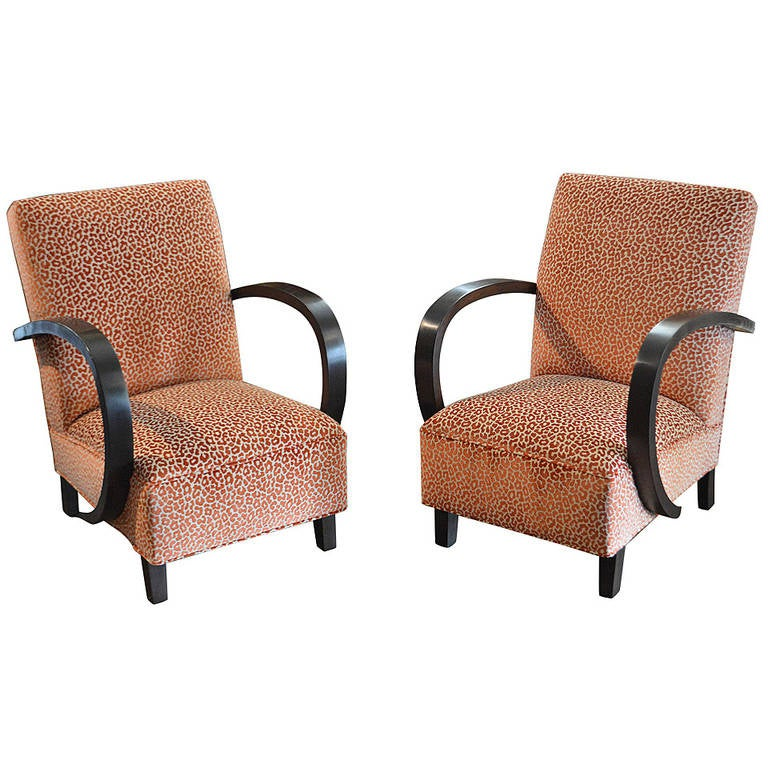 Pair of Period Art Deco Chairs For Sale