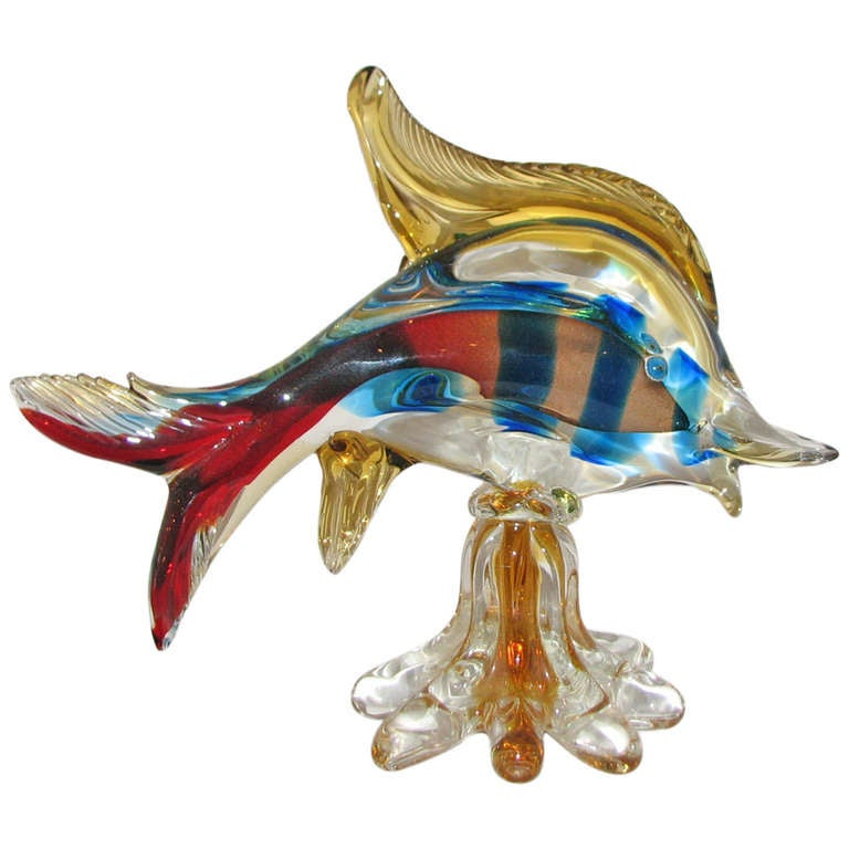 Murano glass fish for sale at 1stdibs for Murano glass fish
