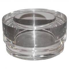Heavy Round Lucite Bowl