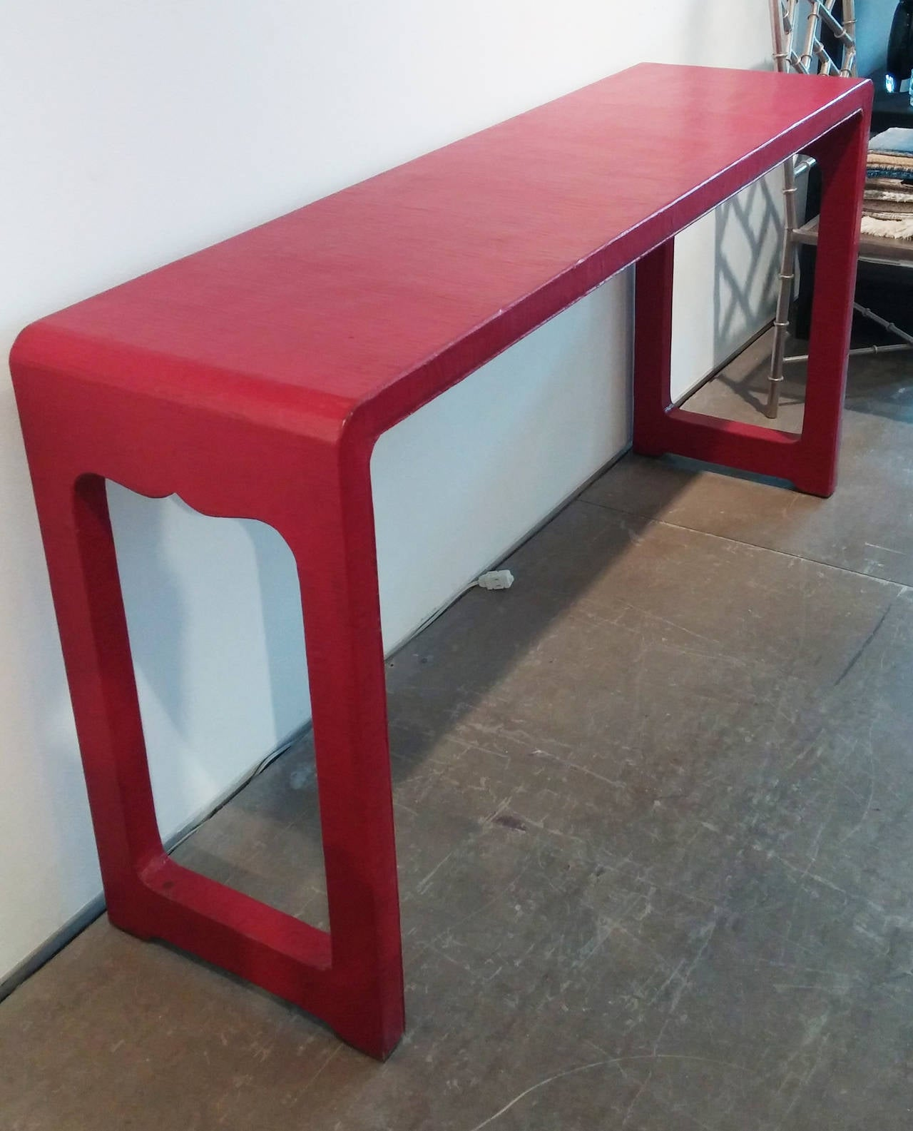 Asian Alter Table in Red Finish 3