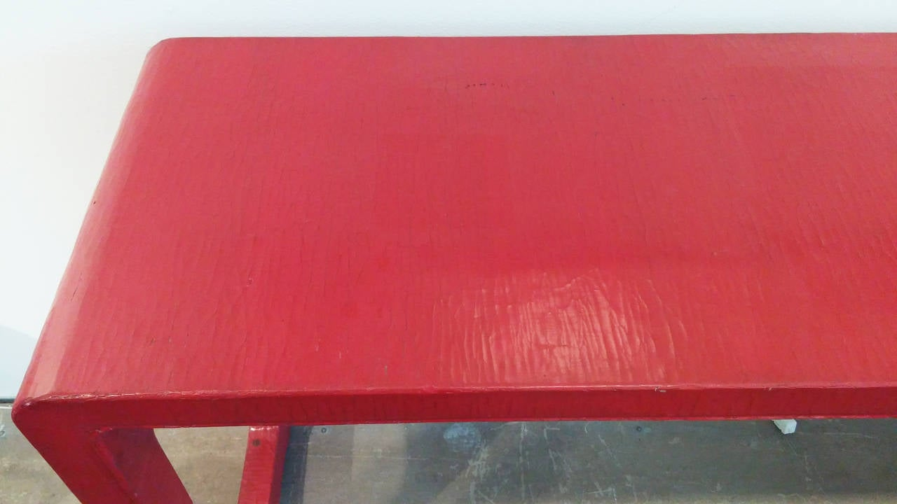 Asian Alter Table in Red Finish 4
