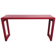 Asian Alter Table in Red Finish