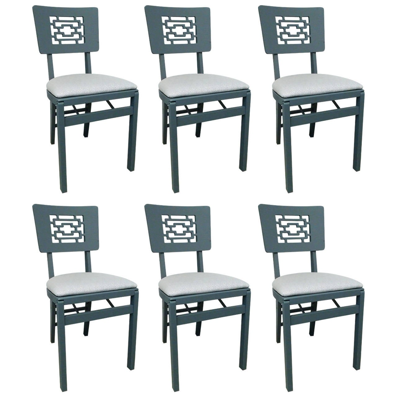 Set of Six Chinese Modern Folding Chairs at 1stdibs