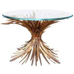 Gilt Italian Sheaf Of Wheat Coffee Table