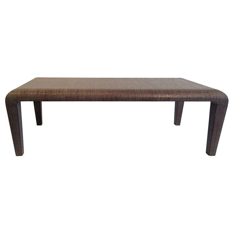 rattan coffee table 50w x 24d x 18h