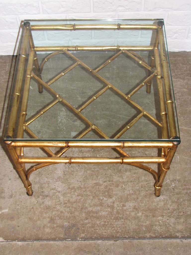 Italian Gilt Chinese Chippendale Style Occasional Table In Excellent Condition For Sale In Washington, DC