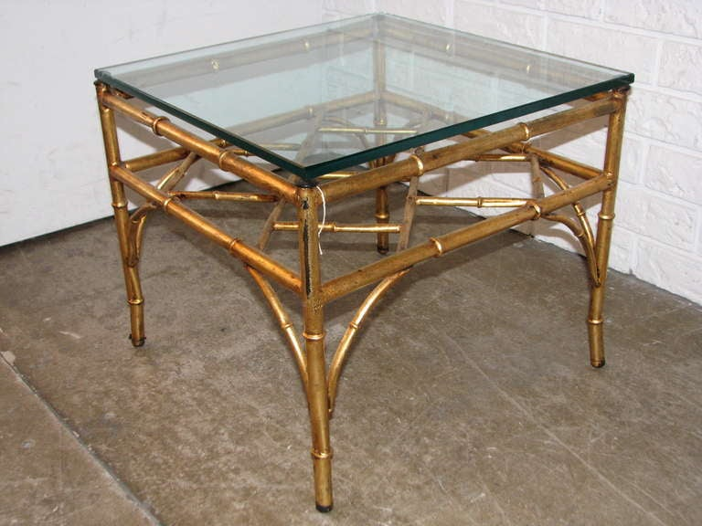 Italian Gilt Chinese Chippendale Style Occasional Table 2