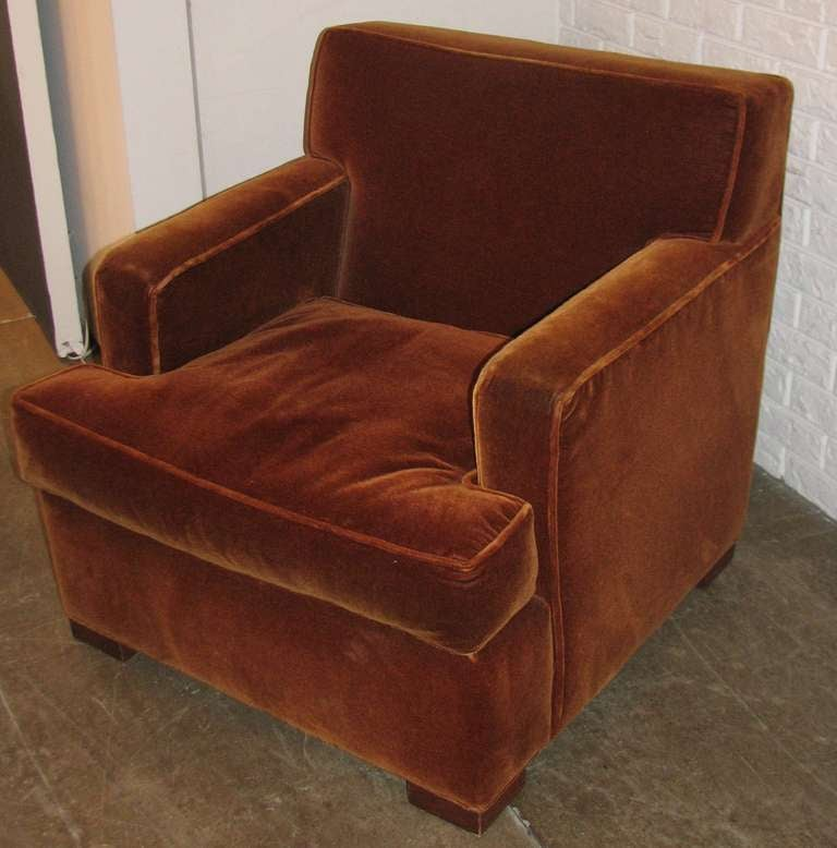 Pair of hamilton furn co rust mohair chairs at 1stdibs for I furniture hamilton
