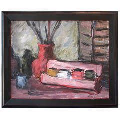 Pink Acrylic Still Life by M. Pottus