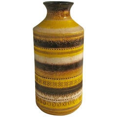 Rosenthal Netter Yellow Striped Ceramic Vase