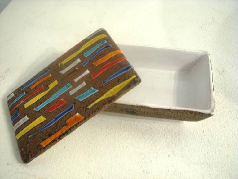 Italian Raymor Ceramic Box For Sale