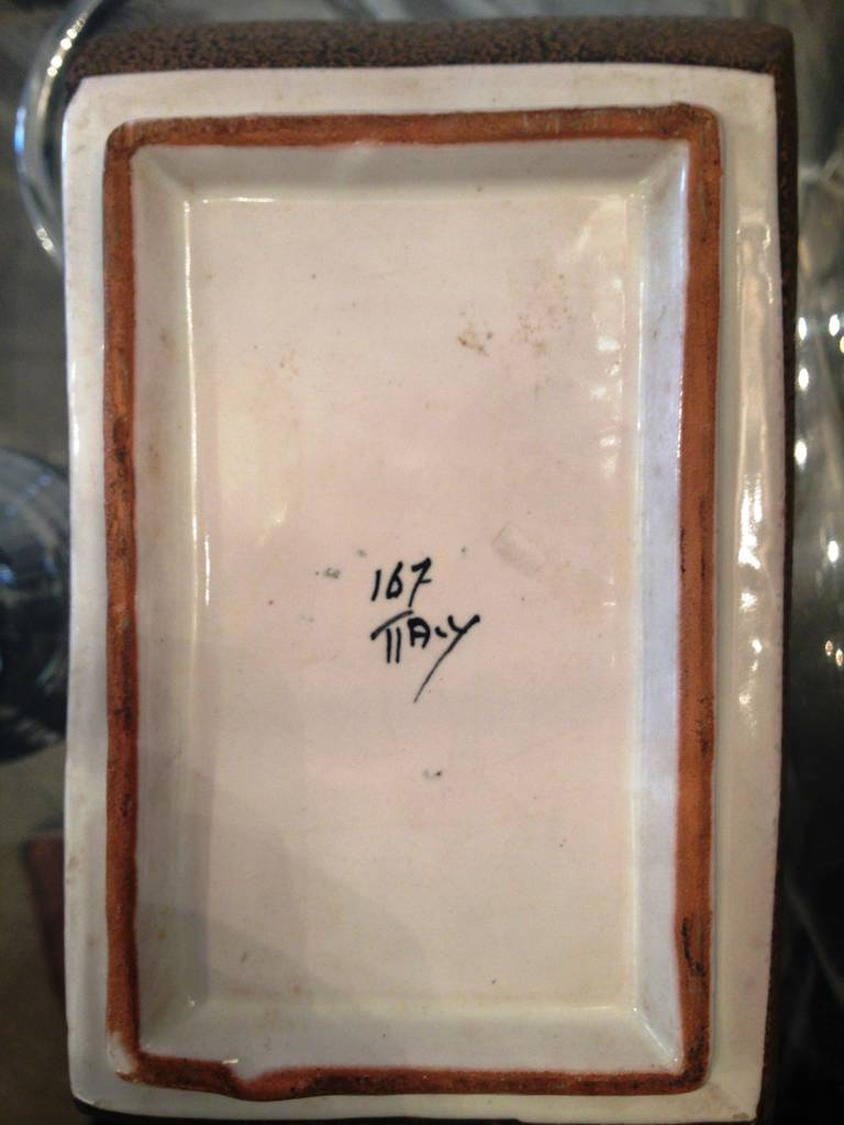 Raymor Ceramic Box In Excellent Condition For Sale In Washington, DC
