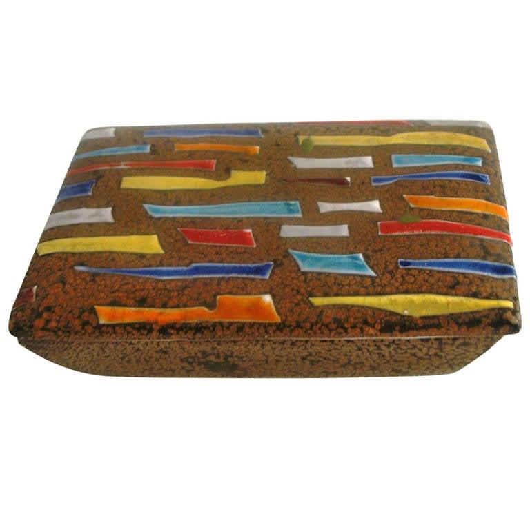 Raymor Ceramic Box For Sale