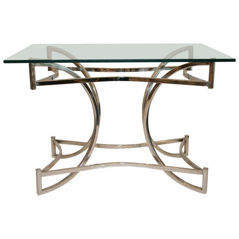 Chrome Sculptural Coffee Table 1