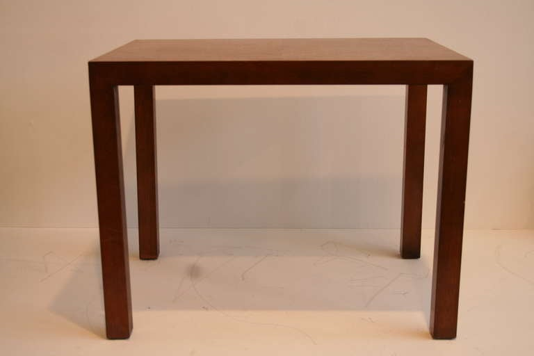 Lane Furn Co Walnut Parsons Table With Inlaid Top. There Are Two Tables, One